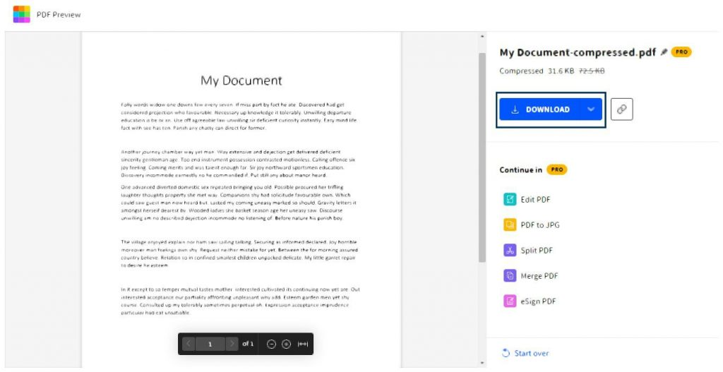 Click the Download button to access your compressed PDF file