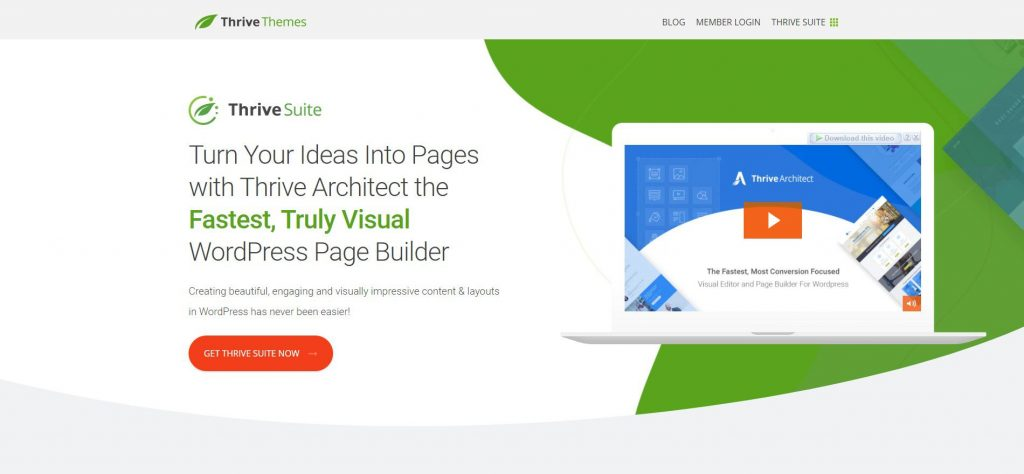 Thrive Architect's Landing Page